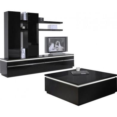 Ensemble meuble tv noir design en cm de largeur collection Bosavern