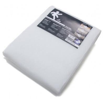 Paillasson design blanc tissé à la machine en polyester L. 220 x P. 150 x H. 2,5 cm Collection Zelda