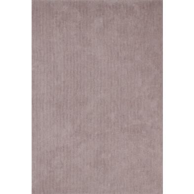 Tapis unicolore beige moderne tissé à la machine en polyester L. 290 x P. 200 x H. 3 cm collection Michaud