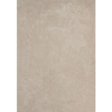 Tapis unicolore beige moderne tissé à la machine en polyester L. 230 x P. 160 x H. 3 cm collection Michaud