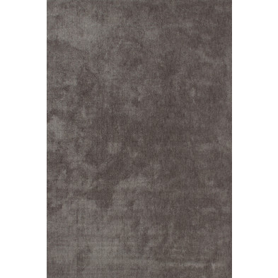 Tapis unicolore argenté moderne tissé à la machine en polyester L. 290 x P. 200 x H. 3 cm collection Michaud