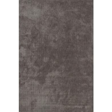 Tapis unicolore argenté moderne tissé à la machine en polyester L. 150 x P. 80 x H. 3 cm collection Michaud