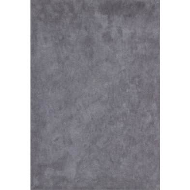 Tapis unicolore gris moderne tissé à la machine en polyester L. 170 x P. 120 x H. 3 cm collection Michaud