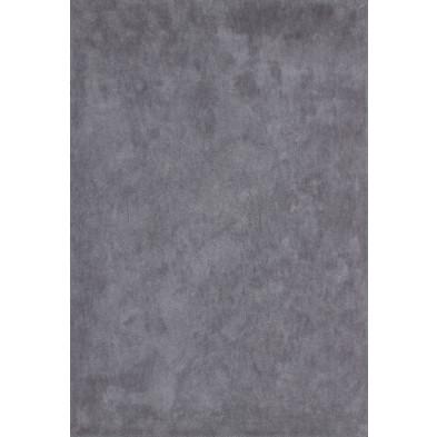 Tapis unicolore gris moderne tissé à la machine en polyester L. 150 x P. 80 x H. 3 cm collection Michaud