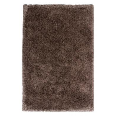 Tapis shaggy moderne coloris gris avec des motifs uni L. 170 x P. 120 x H. 5,5 cm Collection  Wechsler
