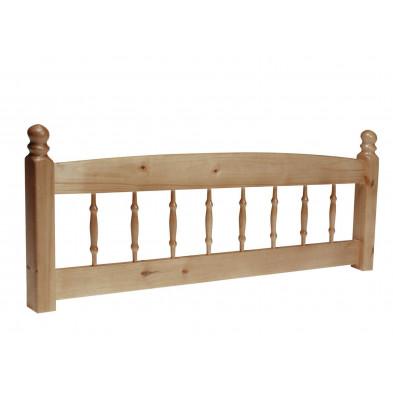 Tête de lit contemporaine marron en bois massif pin L. 129 x P. 6,5 x H. 52 cm collection Clavijo