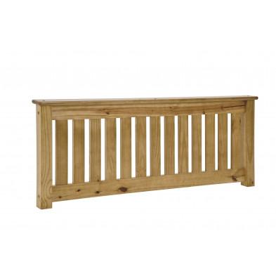 Tête de lit contemporaine marron en bois massif pin L. 192 x P. 8,5 x H. 56 cm collection Preore