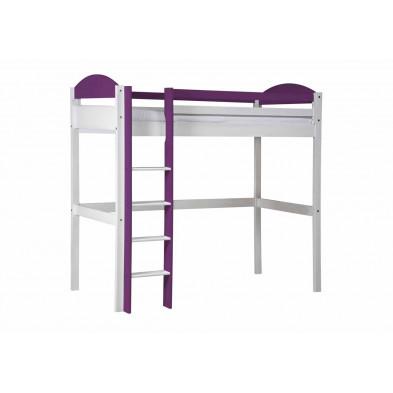 Lit surélevé  90 x 200 cm  contemporain violet collection Blakemere