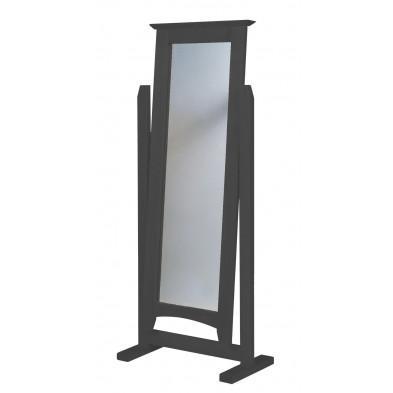 Miroir sur pied contemporain gris L. 58 x H. 34 cm collection Genoveffa