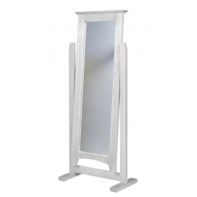 Miroir sur pied contemporain blanc L. 58 x H. 34 cm collection Genoveffa