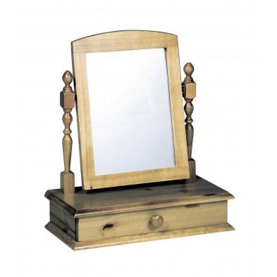 Miroir sur pied contemporain marron L. 56 x H. 26 cm collection Genoveffa
