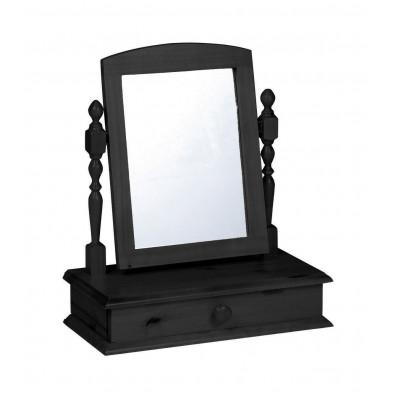 Miroir sur pied contemporain gris  L. 56 x H. 26 cm collection Genoveffa
