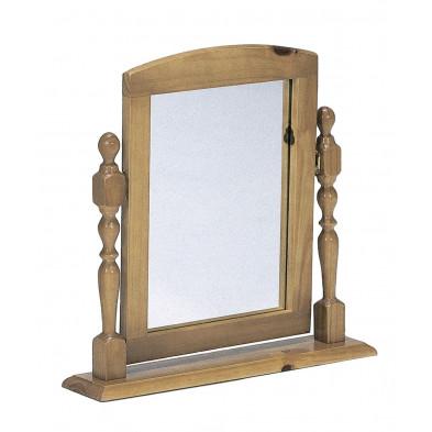 Miroir sur pied contemporain marron L. 54 x H. 12 cm collection Genoveffa