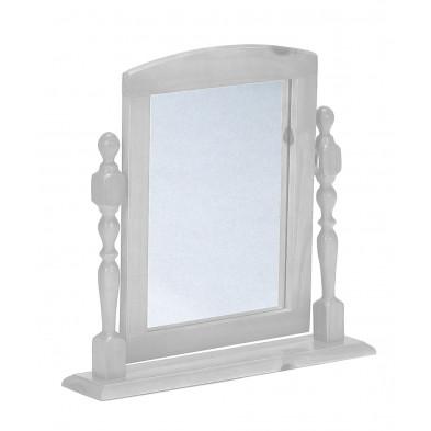 Miroir sur pied contemporain blanc L. 54 x H. 12 cm collection Genoveffa