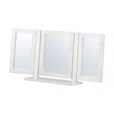 Miroir sur pied contemporain blanc L. 103 x H. 23 cm collection Genoveffa