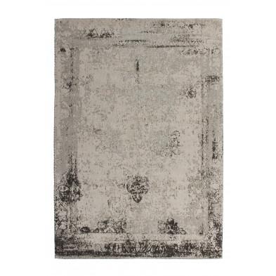 Tapis retro & patchwork gris vintage tissé à la main en 50% coton et 50% polyester chenille L. 230 x P. 160 x H. 1 cm collection Waalre