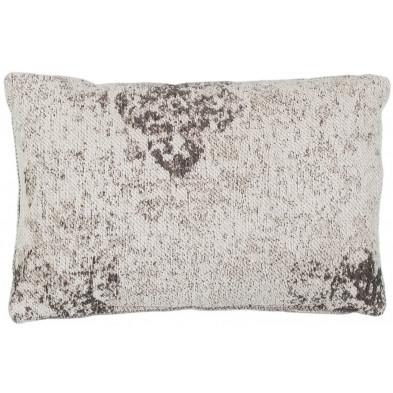 Coussin et oreiller gris vintage tissé à la main en 50% coton et 50% polyester chenille L. 60 x P. 40 x H. 0 cm collection Waalre