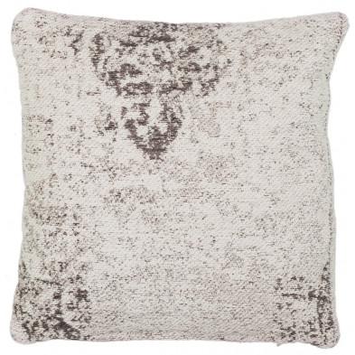 Coussin et oreiller gris vintage tissé à la main en 50% coton et 50% polyester chenille L. 45 x P. 45 x H. 0 cm collection Waalre