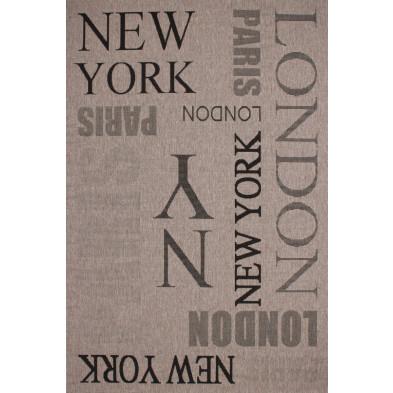 Tapis moderne gris en polypropylène bcf avec des motifs graphique L. 170 x P. 120 x H. 0,5 cm Colelction Noordam   collection