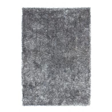 Tapis moderne shaggy coloris gris avec des motifs uni  L. 150 x P. 80 x H. 5 cm Collection Wailuku