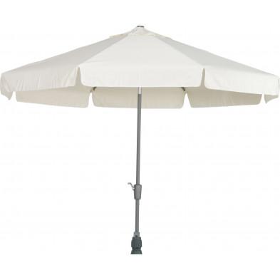 Parasol rond en aluminium et polyester Ø 350 cm coloris écru collection Giraldo