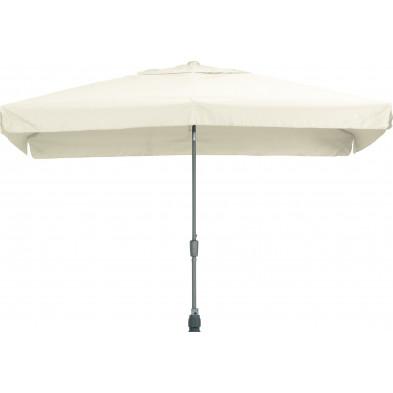 Parasol rectangulaire en polyester et aluminium 200 x 300 cm coloris écru collection Giraldo
