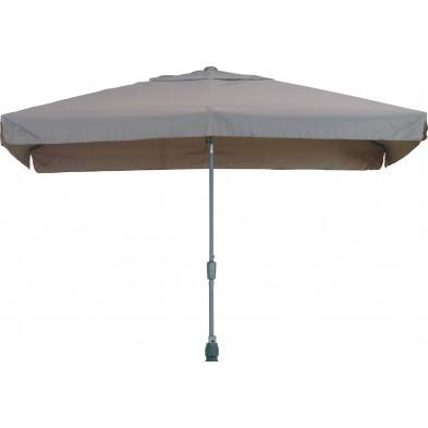 Parasol rectangulaire en polyester et aluminium 200 x 300 cm coloris Taupe collection Giraldo
