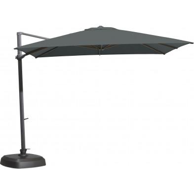 Parasol déporté en aluminium Ø 300 cm coloris anthracite collection Fideli