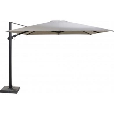 Parasol déporté en aluminium Ø 300 cm coloris Taupe collection  Fideli