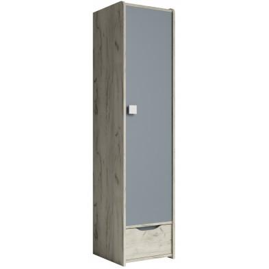 Armoire 1 porte marron moderne en panneaux de particules de haute qualité L. 50 x P. 40 x H. 197 cm collection Ruijter