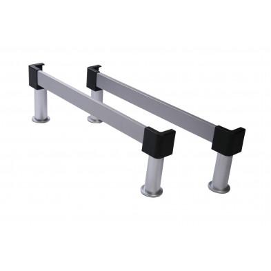 Set de 2 traverses grises 70 cm avec 4 pied moderne en aluminium collection Gambellara