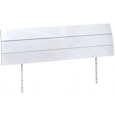 Tête de lit blanc design L. 195 x H. 40 cm collection Fancy
