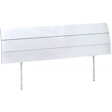 Tête de lit blanc design L. 205 x H. 40 cm collection Fancy