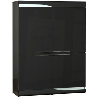 Buffet - vaisselier noir design en panneaux de particules de haute qualité L. 120 x P. 46 x H. 160 cm collection Lotenhulle