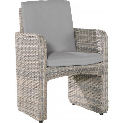 Chaise de jardin en résine tressée L. 61 x P. 47 x H. 88 cm coloris beige collection Zarlardinge