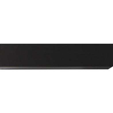 Meuble horizontal suspendu design gris en panneaux de particules mélaminés L. 139 x P. 31 x H. 29 cm  Collection Mollie
