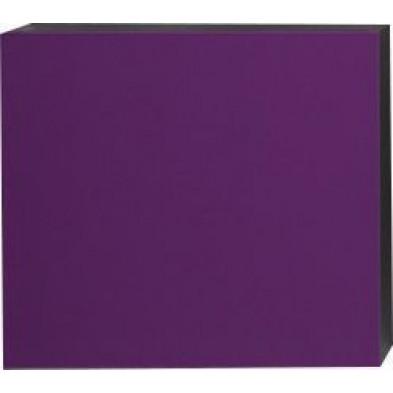 Meuble suspendu Cube design violet en panneaux de particules mélaminés L. 57 x P. 31 x H. 51 cm  Collection Mollie