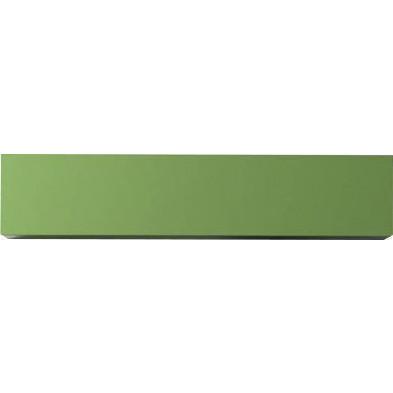 Meuble horizontal suspendu design vert en panneaux de particules mélaminés de haute qualité L. 139 x P. 31 x H. 29 cm  Collection Mollie