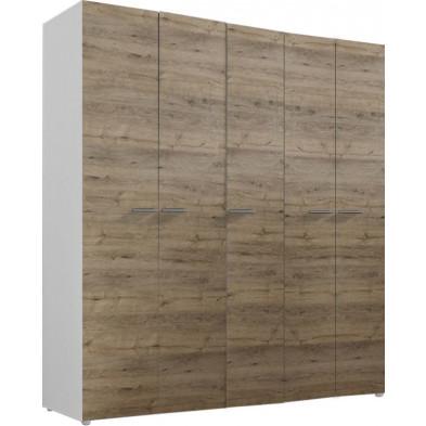 Armoire adulte marron design L. 158 x P. 53 x H. 214 cm collection Mountain