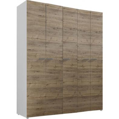 Armoire adulte marron design L. 158 x P. 53 x H. 240 cm collection Mountain