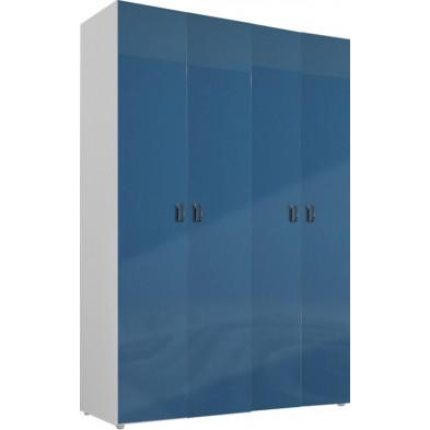 Armoire adulte bleu design L. 159 x P. 53 x H. 240 cm collection Bigley