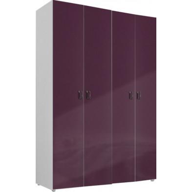 Armoire adulte violet design L. 159 x P. 53 x H. 240 cm collection Ocie