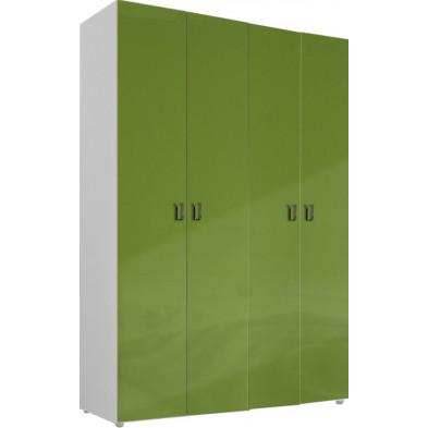 Armoire adulte vert design L. 159 x P. 53 x H. 240 cm collection Meby