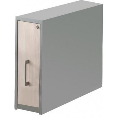 Caisson bureau gris moderne en panneaux de particules mélaminés de haute qualité L. 24,7 x P. 80 x H. 75,7 cm collection Therrien