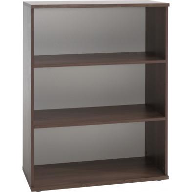 Meuble étagère marron contemporain en panneaux de particules mélaminés de haute qualité collection Grabyplains