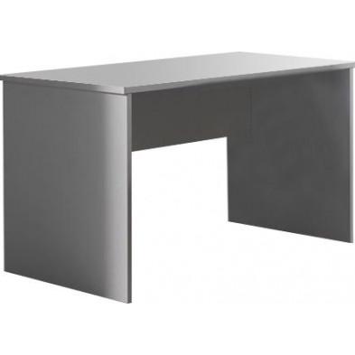 Bureau entreprise blanc design en panneaux de particules mélaminés de haute qualité L. 120 x P. 80 x H. 75 cm collection Mortsel
