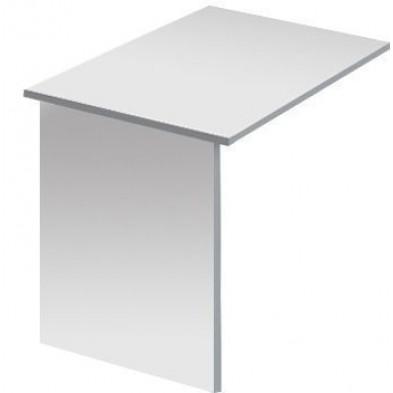 Table d'appoint de bureaux blanc design en panneaux de particules mélaminés de haute qualité L. 80 x P. 60 x H. 75 cm collection Ryo