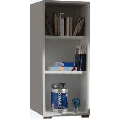 Meuble étagère blanc design en panneaux de particules mélaminés de haute qualité L. 47,7 x P. 42 x H. 110 cm collection Ryo
