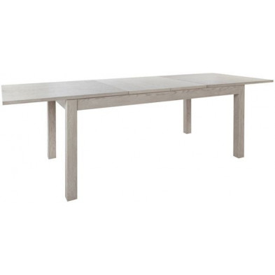 Table de salle à manger en bois massif marron rustique L. 185-240 x H. 75 cm  collection Arranho