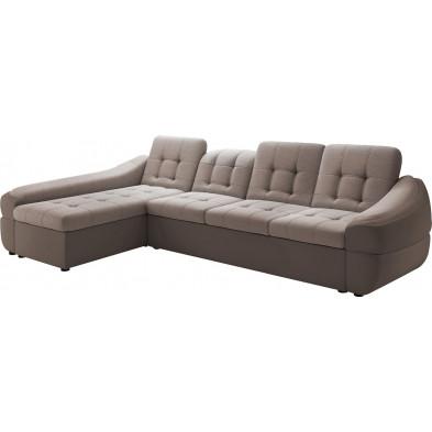 Canapés d'angle beige design en polyester 4 places L. 320 x P. 190 x H. 79-87 cm collection DIVANI